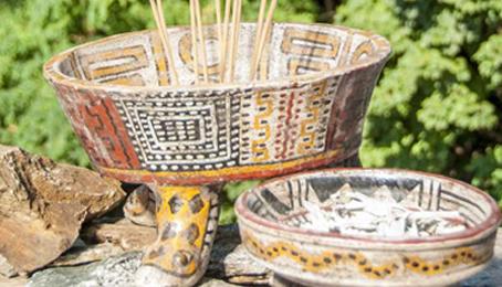 Aztekische Räuchergefässe