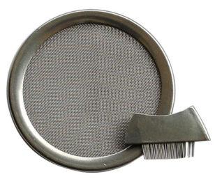Edelstahl-Räuchersieb 6 cm mit Bürstchen