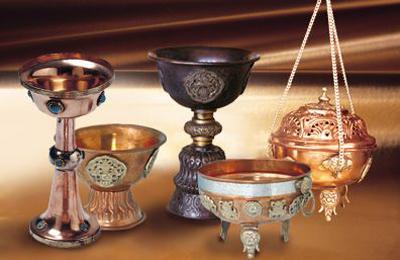 Kupfer und Maharadschagefässe
