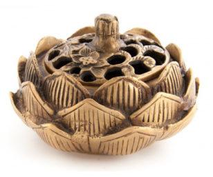 Lotus - Räuchergefäss aus Messing