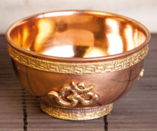 Räucherschale aus Kupfer