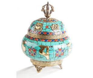 Rintschen - Kupferdose mit Türkis