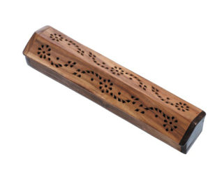 Holzhalter mit Vorratsbox - Antik