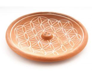 Keramikhalter - Blume des Lebens Natur