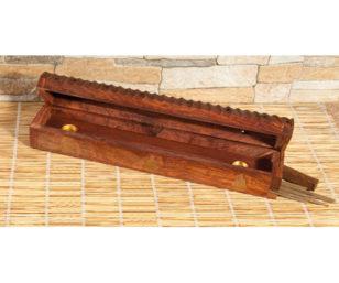 Holzhalter mit Vorratsbox - Buddha