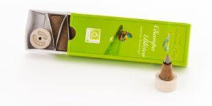 Champa-Blüten Räucherkegel - Green Line