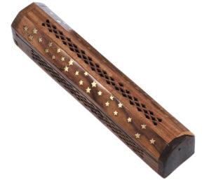 Holzhalter mit Vorratsbox - Sternchen
