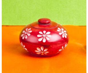 Blumendöschen, rot