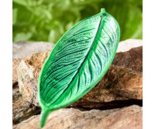 Räucherstäbchenhalter Blatt, grün