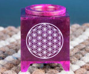Aromalampe - Blume des Lebens violett