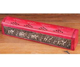 Räucherbox Elefant, rot