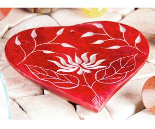 Räucherstäbchenhalter - Herz-Lotusblume