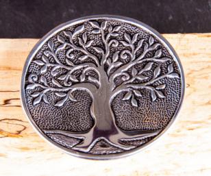 Relief Weissmetallhalter - Lebensbaum