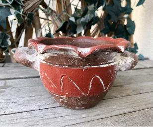 Räucherschale Azteke, rot/braun