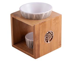 Aromalampe Yggdrasil aus Bambus/Keramik